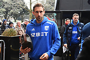 Craig Dawson (25) of West Bromwich Albion on arriving at the Vitality Stadium before the Premier League match between Bournemouth and West Bromwich Albion at the Vitality Stadium, Bournemouth, England on 17 March 2018. Picture by Graham Hunt.