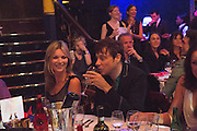 KATE MOSS; JAMIE HINCE, The Hoping Foundation  'Rock On' benefit evening for Palestinian refugee children.  Cafe de Paris, Leicester Sq. London. 20 June 2013