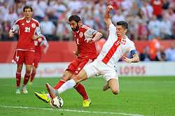 13.06.2015, Nationalstadion, Warschau, POL, UEFA Euro 2016 Qualifikation, Polen vs Greorgien, Gruppe D, im Bild ICHA OLBZHANIDZE, ROBERT LEWANDOWSKI // during the UEFA EURO 2016 qualifier group D match between Poland and Greorgia at the Nationalstadion in Warschau, Poland on 2015/06/13. EXPA Pictures © 2015, PhotoCredit: EXPA/ Newspix/ RAFAL RUSEK<br /> <br /> *****ATTENTION - for AUT, SLO, CRO, SRB, BIH, MAZ, TUR, SUI, SWE only*****