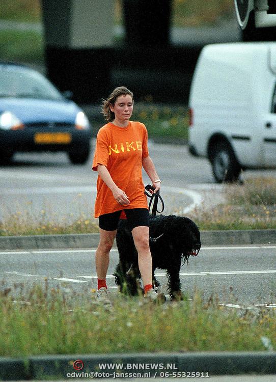 Yolanda Adriaansens klaar met joggen met hond