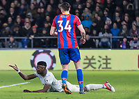 Football - 2017 / 2018 Premier League - Crystal Palace vs. Manchester United<br /> <br /> Paul Pogba (Manchester United) looks again for the penalty after going down in the penalty box at Selhurst Park.<br /> <br /> COLORSPORT/DANIEL BEARHAM