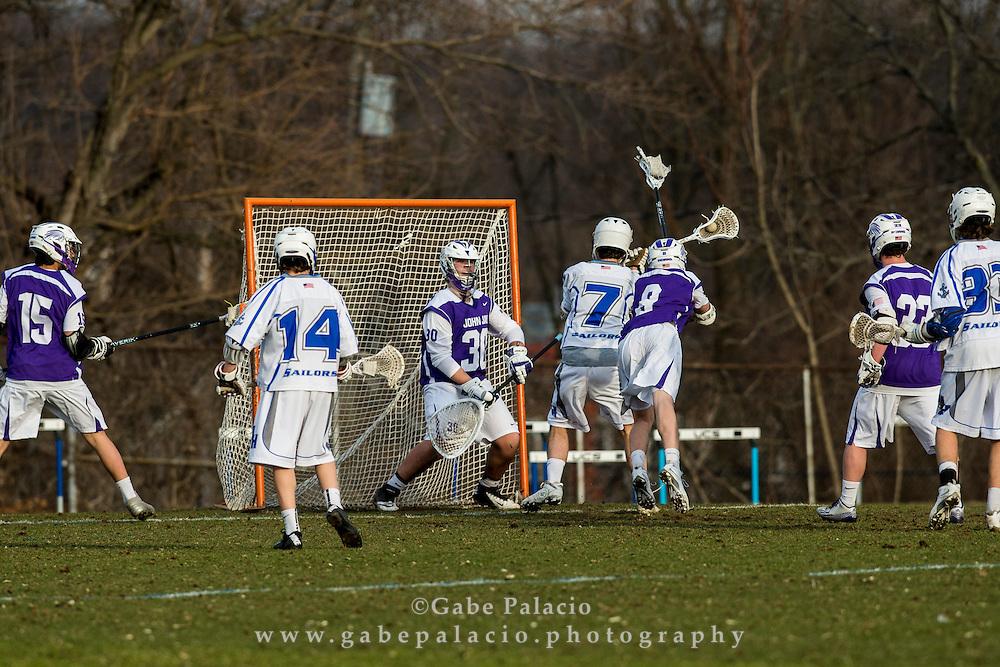 John Jay Varsity Lacrosse game at Hen Hud High School on April 2, 2015. (photo by Gabe Palacio)