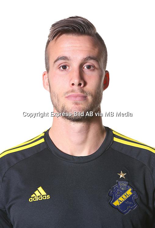 Fredrik Brustad<br /> Halvfigur<br /> @Leverans<br /> Allsvenskan 2016<br /> Fotboll