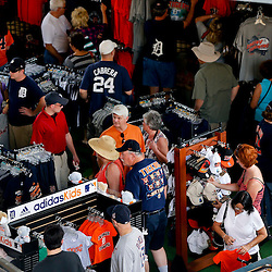 Feb 23, 2013; Lakeland, FL, USA; Detroit Tigers fans shop in the team store prior to a spring training game against the Toronto Blue Jays at Joker Marchant Stadium. Mandatory Credit: Derick E. Hingle-USA TODAY Sports