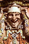 CHICAGO, ARCHITECTURE terra cotta jester on Aragon Ballroom
