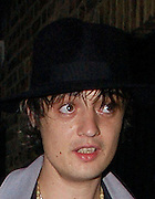 11.JUNE.2007. LONDON<br /> <br /> KATE MOSS AND PETE DOHERTY BOTH WENT OUT BUT WENT OUT SEPERATLEY PETE LEFT THE HOUSE AT 8.30PM ALONE WALKING DOWN THE STREET SPORTING BIG BAGS UNDER HIS EYES. AND KATE LEFT WITH HER STYLIST AND WENT TO GROUCHO CLUB AT 9.30PM AND LEFT AT  10.15PM AND WENT NEXT DOOR TO THE SOHO ROOMS WITH A COUPLE OF MATES BEFORE LEAVING THERE AT 11.30PM AND GOING HOME.<br /> <br /> BYLINE: EDBIMAGEARCHIVE.CO.UK<br /> <br /> *THIS IMAGE IS STRICTLY FOR UK NEWSPAPERS AND MAGAZINES ONLY*<br /> *FOR WORLD WIDE SALES AND WEB USE PLEASE CONTACT EDBIMAGEARCHIVE - 0208 954 5968*
