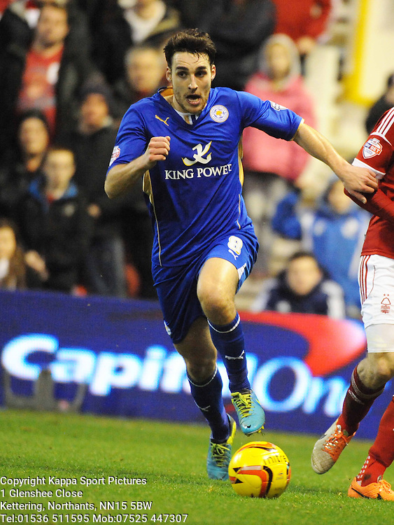 MATTY JAMES, LEICESTER CITY, Nottingham Forest v Leicester City, City Ground Nottingham,  Sky Bet Championship, 19th Febuary 2014