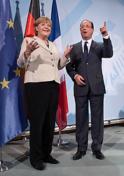 Bildnummer: 57991995..Chancellor Angela Merkel and Franois Grard Georges Nicolas Hollande during a press conference French Presidents in Federal Chancellery in Berlin Germany, Tuesday May 15, 2012.Sven Simon/imago/ i-Images