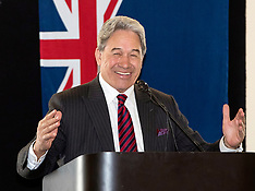 Dunedin-NZ First leader Winston Peters at election meeting