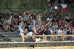 Spits Thibault, BEL, Jericho Dwerse Hagen, Belgium supporters<br /> European Championship Children, Juniors, Young Riders - Fontainebleau 1028<br /> © Hippo Foto - Dirk Caremans<br /> Spits Thibault, BEL, Jericho Dwerse Hagen, Belgium supporters