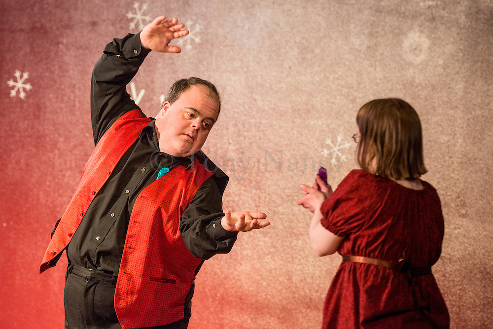 04/11/2012. London, UK. Corali is a professional performance company that works in collaboration with adult performers that have learning disabilities. Picture shows: Little Bird, choreographed by Jacobus Flynn, performed by Bethan Kendrick and Graham Evans.