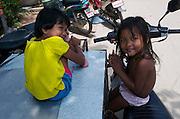 Kids at Hat Chaweng (beach).