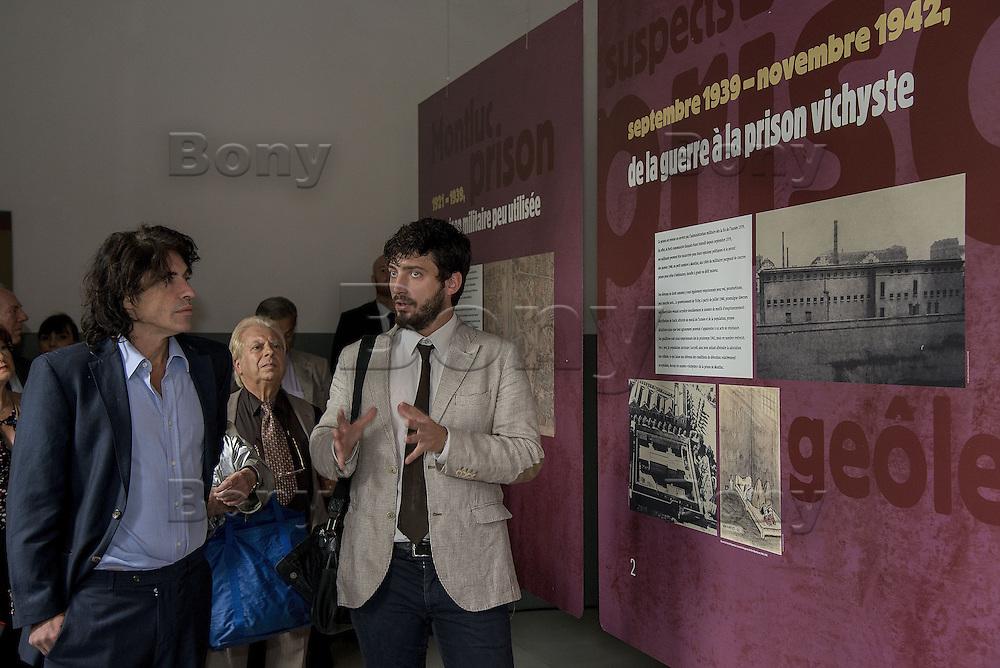 Arnaud Klarsfeld &amp; Antoine Grande (onac)<br /> The last convoy of 11 August 1944', 70th commemoration of the last deportees of the jail of Montluc.