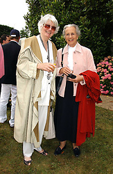 """Left to right, BRONWEN, VISCOUNTESS ASTOR and the DUCHESS OF RICHMOND & GORDON at the Goodwood Festival of Speed on 9th July 2006.  Cartier sponsored the """"Style Et Luxe' for vintage cars on the final day of this annual event at Goodwood House, West Sussex and hosted a lunch.<br /><br />NON EXCLUSIVE - WORLD RIGHTS"""