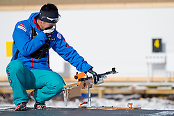 Coach, JPN, Biathlon Pursuit, 2015 IPC Nordic and Biathlon World Cup Finals, Surnadal, Norway