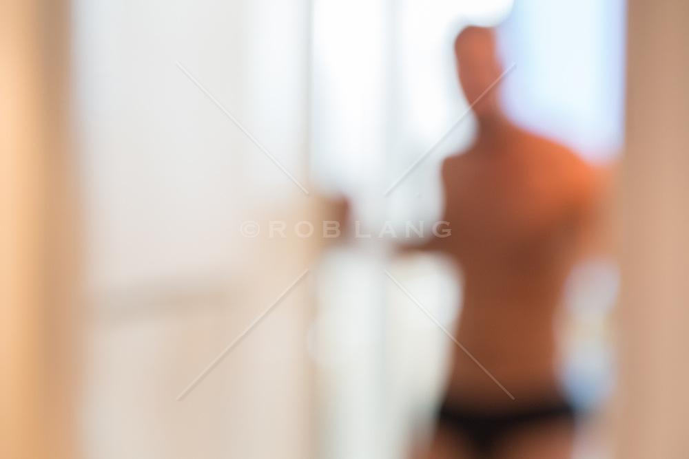 abstract of a man at home