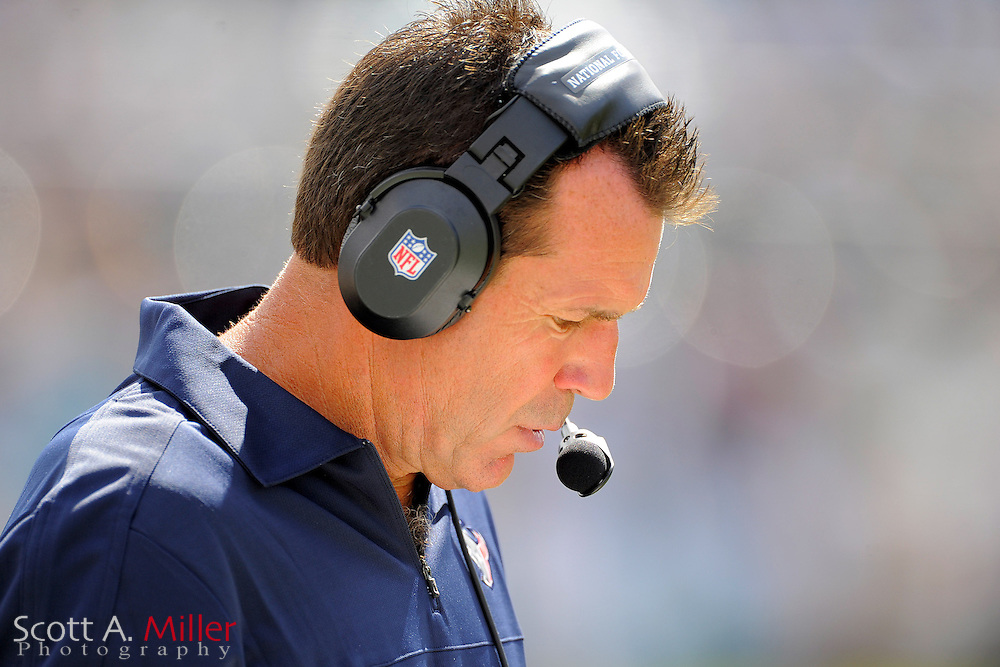 Houston Texans head coach Gary Kubiak during the NFL game between the Texans and the Jacksonville Jaguars, at EverBank Field on September 16, 2012 in Jacksonville, Florida. The Texans won 27-7...©2012 Scott A. Miller.