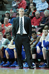 26 February 2014:  Greg Lansing during an NCAA Missouri Valley Conference (MVC) mens basketball game between the Indiana State Sycamores and the Illinois State Redbirds  in Redbird Arena, Normal IL.