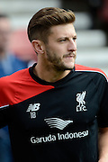 Adam Lallana during the Barclays Premier League match between Stoke City and Liverpool at the Britannia Stadium, Stoke-on-Trent, England on 9 August 2015. Photo by Alan Franklin.
