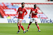 Nottingham Forest defender Danny Fox (13) during the EFL Sky Bet Championship match between Nottingham Forest and Reading at the City Ground, Nottingham, England on 22 April 2017. Photo by Jon Hobley.
