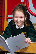 Doireann Ní Fhoighil 4th class pupil from Scoil Sailearna, Inverin, Co. Galway who will be presented with a medal for her prize-winning original story at this year's Write a Book / Scríobh Leabhair competition, run by Galway Education Centre, in the Radisson blu Hotel on Thursday 30th April.  Photo:Andrew Downes