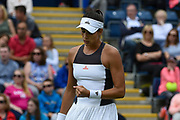 Garbine Muguruza of Spain clenches her fist after winning first et (6-3) during the Aegon Classic Birmingham at Edgbaston Priory Club, Edgbaston, United Kingdom on 24 June 2017. Photo by Martin Cole.