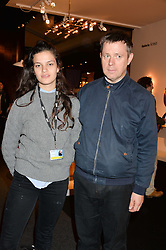 EVANGELINE LING and her father WILLIAM LING at the PAD London 2014 VIP evening held in the PAD Pavilion, Berkeley Square, London on 14th October 2014.