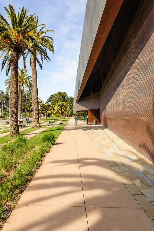 M.H. de Young Museum, fine arts museum located in San Francisco's Golden Gate Park, California, Primary Designers: Herzog & de Meuron, Principal Architects : Fong & Chan Architects