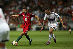 August 31, 2017 - Porto, Portugal - Portugal's forward Bernardo Silva (L) vies with Faroe Islands' midfielder Rene Joensen during the 2018 FIFA World Cup qualifying football match between Portugal and Faroe Islands at the Bessa XXI stadium in Porto, Portugal on August 31, 2017. (Credit Image: © Pedro Fiuza/NurPhoto via ZUMA Press)