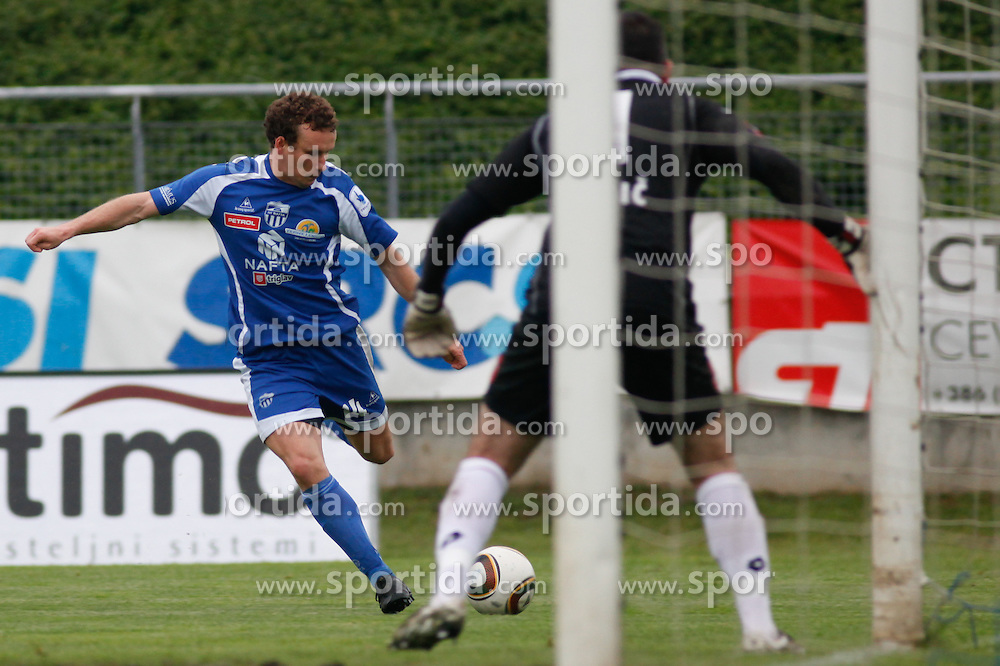 Konstantin Vassiljev of Nafta at the football match between NK Nafta Lendava and NK Luka Koper of PrvaLiga league on May 16, 2010 in Lendava, Slovenia. Nafta lost 1 : 2, Koper became National champion.  (Photo by Urban Urbanc / Sportida)