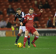 Dundee&rsquo;s Nick Ross and Aberdeen&rsquo;s Niall McGinn - Aberdeen v Dundee in the Ladbrokes Scottish Premiership at Pittodrie, Aberdeen - Photo: David Young, <br /> <br />  - &copy; David Young - www.davidyoungphoto.co.uk - email: davidyoungphoto@gmail.com