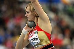 Denise Hinrichs of Germany placed second at the 1st day of  European Athletics Indoor Championships Torino 2009 (6th - 8th March), at Oval Lingotto Stadium,  Torino, Italy, on March 6, 2009. (Photo by Vid Ponikvar / Sportida)