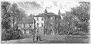 Charles Darwin (1809-1882), Down House, near Beckenham, Kent, home of Charles Darwin, English naturalist. Evolution by Natural Selection. From 'The Illustrated London News', 10 December 1887. Engraving.