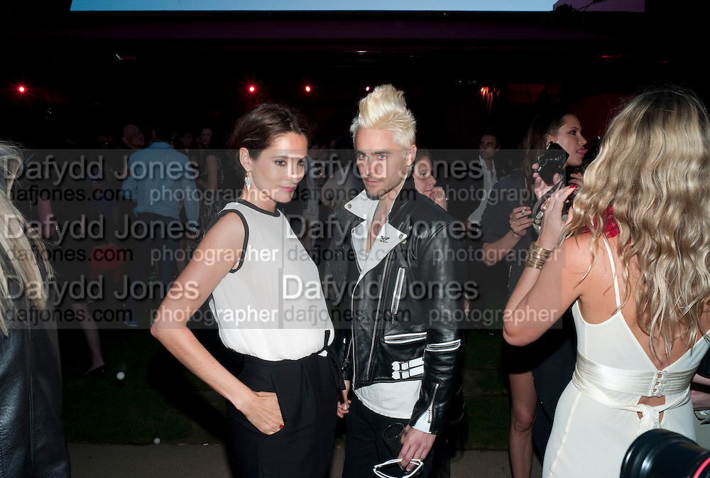 ASTRID MUNOZ; JARED LETO; , The Summer Party. Serpentine Gallery. 8 July 2010. -DO NOT ARCHIVE-© Copyright Photograph by Dafydd Jones. 248 Clapham Rd. London SW9 0PZ. Tel 0207 820 0771. www.dafjones.com.