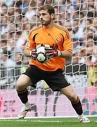 Real Madrid's Iker Casillas during La Liga match.September 2 2009.