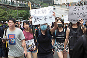 CHINA, Hong Kong: 17 August 2019 <br /> Thousands of teachers and other protesters descend on to Chater Park this morning as part of The Teacher's March which follows weeks of demonstrations which has brought the city to a standstill. Demonstrators have taken to the streets of Hong Kong in protest of a controversial extradition bill since 9th of June which has resulted in several violent clashes.<br /> Rick Findler / Story Picture Agency