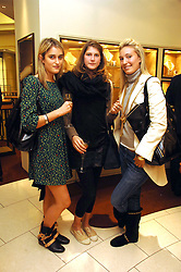 Left to right, VIOLET VON WESTENHOLZ, PRINCESS FLORENCE VON PREUSSEN and OLIVIA BUCKINGHAM at a party hosted by Links of London to celebrate the forthcoming Glorious Goodwood racing event held at links, Sloane Square, London on 25th July 2007.<br />