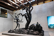 "Venezia - Punta della Dogana . La mostra di Damien Hirst: ""Tresaures from the Wreck of Unbelievable.  ""Hydra and Kali""."