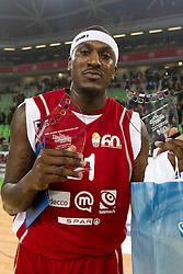 Kevinn Pinkney, MVP in zmagovalec metanja trojk na Dnevu slovenske moske kosarke 2010, on January 2, 2011 in Arena Stozice, Ljubljana, Slovenia. (Photo by Vid Ponikvar / Sportida.com)