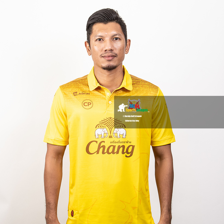 THAILAND - JUNE 29: Sakdarin Mingsamorn #25 of Sukhothai FC on June 29, 2019.<br /> .<br /> .<br /> .<br /> (Photo by: Naratip Golf Srisupab/SEALs Sports Images/MB Media Solutions)