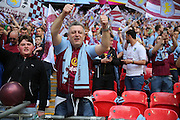 Aston Villa fan during the The FA Cup match between Arsenal and Aston Villa at Wembley Stadium, London, England on 30 May 2015. Photo by Phil Duncan.