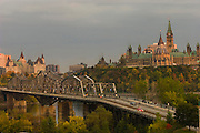 Parliament and the Alexendra Bridge over the Ottawa River, Ottawa, Canada. The image is part of a collection of images and documentation for Hungry Planet 2, a continuation of work done after publication of the book project Hungry Planet: What the World Eats, by Peter Menzel & Faith D'Aluisio.