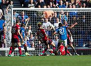 9th September 2017, Ibrox Park, Glasgow, Scotland; Scottish Premier League football, Rangers versus Dundee; Rangers' Carlos Alberto Pena scores for 3-0