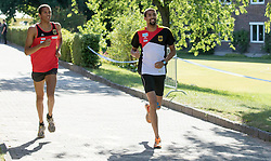 01.07.2015, Olympiapark, Berlin, GER, Moderner Fünfkampf WM, im Bild Marvin und Patrick Dogue, Verein Potsdam // during Mens relay race of the the world championship of Modern Pentathlon at the Olympiapark in Berlin, Germany on 2015/07/01. EXPA Pictures © 2015, PhotoCredit: EXPA/ Eibner-Pressefoto/ Kleindl<br /> <br /> *****ATTENTION - OUT of GER*****