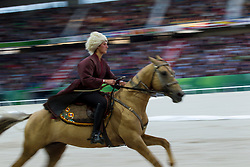 Opening Ceremony, L'Akhal Teke<br /> Alltech FEI World Equestrian Games™ 2014 - Normandy, France.<br /> © Hippo Foto Team - Leanjo de Koster<br /> 25/06/14