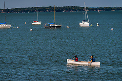 Canoe on Lake Mendota in Madison, Wisconsin.
