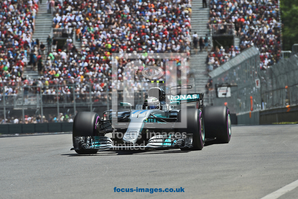 Valtteri Bottas of Mercedes AMG Petronas during the Canadian Formula One Grand Prix qualifying session at the Circuit Gilles Villeneuve, Montreal<br /> Picture by EXPA Pictures/Focus Images Ltd 07814482222<br /> 10/06/2017<br /> *** UK &amp; IRELAND ONLY ***<br /> <br /> EXPA-EIB-170610-0466.jpg
