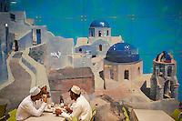 Emirats Arabes Unis, Dubai, Centre commercial Mall of the Emirates, restaurant grec et clients omanais // United Arab Emirates, Dubai, Mall of the Emirates commercial center, greek restaurant