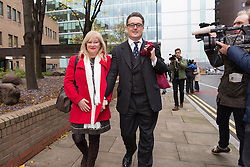© Licensed to London News Pictures. 30/11/2015. London, UK. Andrew Fitch-Holland leaving Southwark Crown Court in London after the jury found him not guilty. The former New Zealand cricketer, Chris Cairns and his Barrister Andrew Fitch-Holland were both found not guilty of perjury and perverting the course of justice. Photo credit : Vickie Flores/LNP