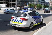 Police emergency vehicle in Barcelona. Spain 2013